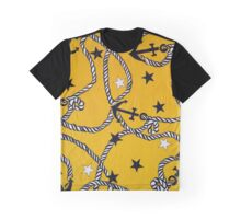 """Patriotic Anchors and Ropes Aweigh - YELLOW""© Graphic T-Shirt"