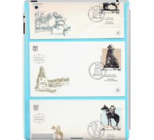 3 1984 First day covers of an Israeli stamp of famous monuments in Israel  iPad Case/Skin