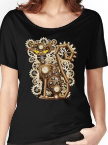Steampunk Cat Vintage Style Women's Relaxed Fit T-Shirt