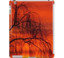 Willow over orange sky iPad Case/Skin