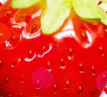 Summer pop - red strawberry Sticker