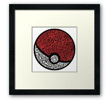 wild pokemon Framed Print