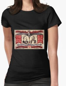 Artist Posters Public office is a public trust For President of the United States Grover Cleveland of New York For Vice President of the United States Allen G Thurman of Ohio 0380 Womens Fitted T-Shirt