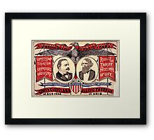 Artist Posters Public office is a public trust For President of the United States Grover Cleveland of New York For Vice President of the United States Allen G Thurman of Ohio 0380 Framed Print
