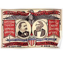 Artist Posters Public office is a public trust For President of the United States Grover Cleveland of New York For Vice President of the United States Allen G Thurman of Ohio 0380 Poster