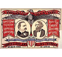 Artist Posters Public office is a public trust For President of the United States Grover Cleveland of New York For Vice President of the United States Allen G Thurman of Ohio 0380 Photographic Print