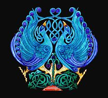 Celtic Peacocks Tee~Shirt by sharpie