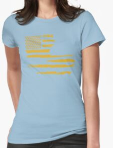 Gold Louisiana Flag Womens Fitted T-Shirt