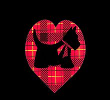 Tartan Scottie T~Shirt by sharpie