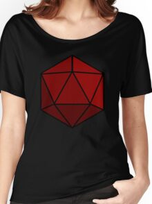 Simple D20 Die, Dice Women's Relaxed Fit T-Shirt