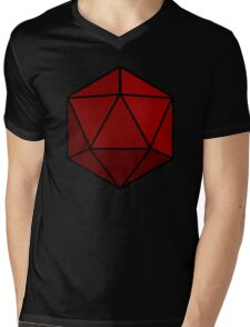Simple D20 Die, Dice Mens V-Neck T-Shirt