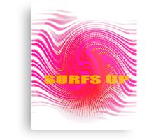 Surfs Up Pink Metal Print