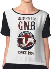 Waiting for classic GNR Not in this lifetime Chiffon Top