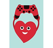 Gamer Heart Photographic Print