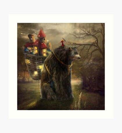 """A Bear Who Carried A Kingdom"" Art Print"