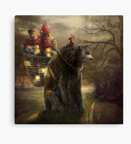 """A Bear Who Carried A Kingdom"" Canvas Print"