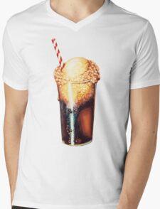 Root Beer Float Pattern Mens V-Neck T-Shirt