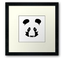 Vector cheetah pencil portrait on the white background Framed Print