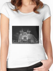 Luna Park at night - BNW Women's Fitted Scoop T-Shirt