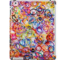background of colorful rubbers on white table iPad Case/Skin