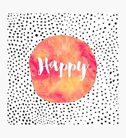 Happy Photographic Print