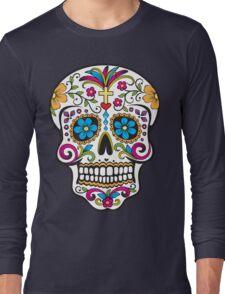 skull white Long Sleeve T-Shirt