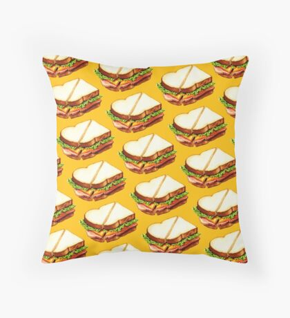 Ham Sandwich Pattern Throw Pillow
