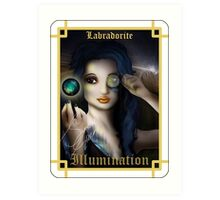 Gemstone Oracle Card - Illumination Art Print