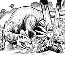 Jurassic Park Cartoon by SnakeArtist