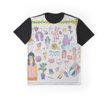 I Love Colourful Animal Erasers (clear background) Graphic T-Shirt