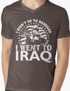 HARVARD $ IRAQ Mens V-Neck T-Shirt