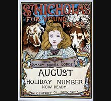 Artist Posters St Nicholas for young folks edited by Mary Mapes Dodge August holiday number now ready The Century Co New York Louis Rhead 0162 Unisex T-Shirt