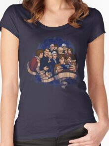Doctor Who Selfie Women's Fitted Scoop T-Shirt