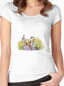 Calvin And Hobbes mapping Women's Fitted Scoop T-Shirt
