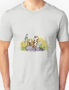 Calvin And Hobbes mapping T-Shirt