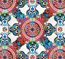 Vibrant Pattern Art - Color Fusion Design 4 By Sharon Cummings by Sharon Cummings