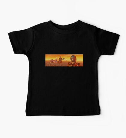CYBORG ARES IN THE DESERT OF HYPERION Sci Fi Movie Baby Tee