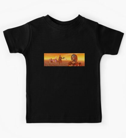 CYBORG ARES IN THE DESERT OF HYPERION Sci Fi Movie Kids Tee