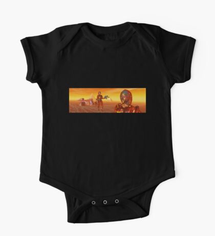 CYBORG ARES IN THE DESERT OF HYPERION Sci Fi Movie One Piece - Short Sleeve