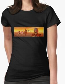 CYBORG ARES IN THE DESERT OF HYPERION Sci Fi Movie Womens Fitted T-Shirt