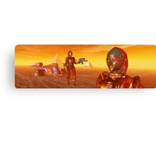 CYBORG ARES IN THE DESERT OF HYPERION Sci Fi Movie Canvas Print
