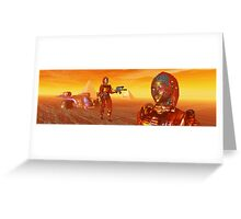 CYBORG ARES IN THE DESERT OF HYPERION Sci Fi Movie Greeting Card