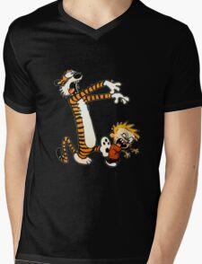zombie calvin hobbes Mens V-Neck T-Shirt