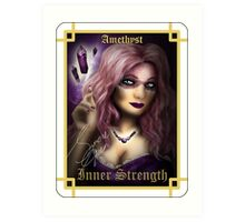 Gemstone Oracle Card - Inner Strength Art Print