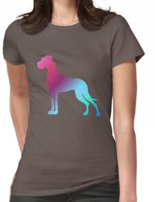 Gradient Great Danes Womens Fitted T-Shirt