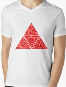 4 triangles form microchip technology cool design pattern Mens V-Neck T-Shirt