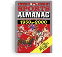 Grays Sports Almanac Complete Sports Statistics 1950-2000 Canvas Print