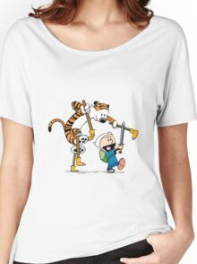 hobbes and calvin time advanture Women's Relaxed Fit T-Shirt