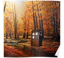 Tardis Forest Art Painting Poster