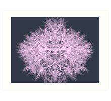 Pink psychedelic forest creature Art Print